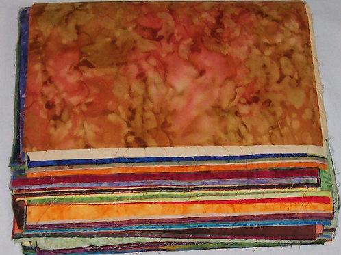 Batik Paradise Fat Eighth Sampler of 79 Pieces