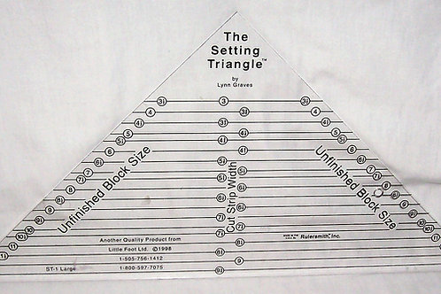 The Setting Triangle Ruler by Lynn Graves