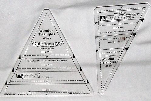 Set of 2 - Wonder Triangles Quilt Sense 8 Sizes Marti Michell