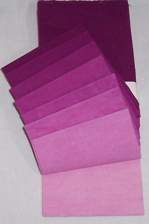 Dye Arts Primrose Graduations 8 Fat Quarter Bundle 2380 English Rose