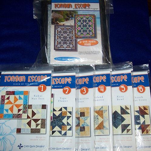 "Tongan Escape Cozy Quilt Designs Pattern + Fabric Kit 63""X80"""
