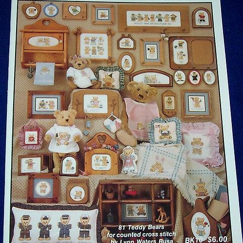 Cross Stitch Pattern The Personality Bears Book 81 Teddy Bears Lynn Waters Busa