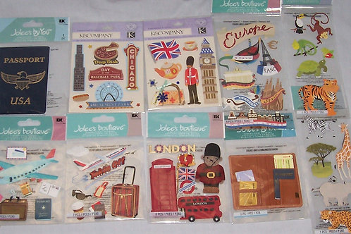 K & Company Jolee's Boutique Dimensional Stickers Travel London Europe Chicago