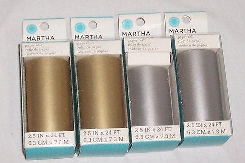 """Martha Stewart 4 Paper Roll Each 2.5""""X24FT EKSuccess"""