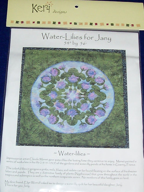 "Water Lilies for Jany Pattern Keri Designs 54""X56"""