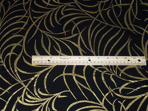Timeless Treasures CM8664 Black with Metallic Gold