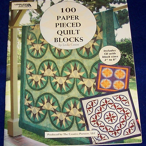 100 Paper Pieced Quilt Blocks with CD Linda Causee