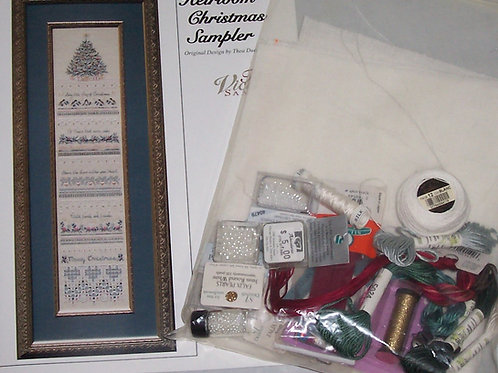 Heirloom Christmas Sampler Cross Stitch Kit Thea Dueck for The Victoria Sampler