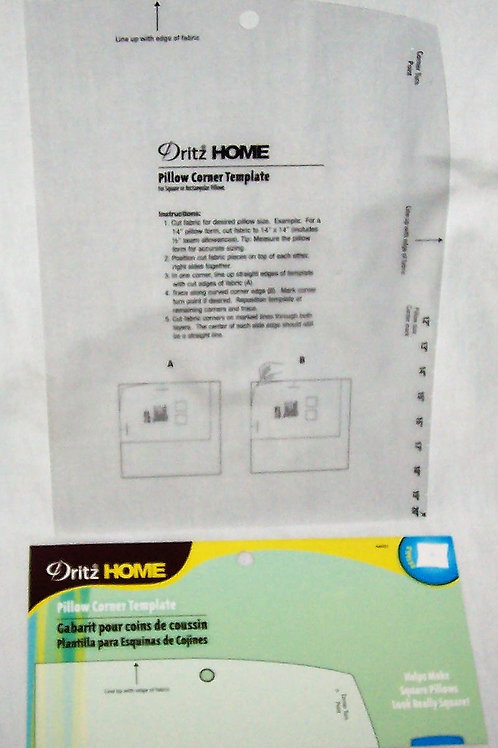 Dritz Pillow Corner Template - Helps Make Square Pillows Square