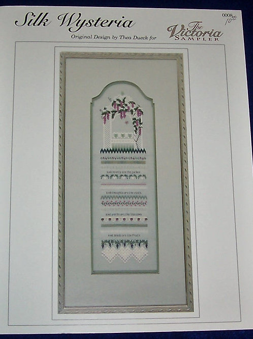 Cross Stitch Pattern Silk Wysteria 0008 The Victorian Sampler