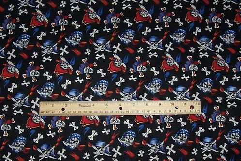 Fabri-Quilt Headgear Pirates Fabric Clearance 3/4 Yard Remnant