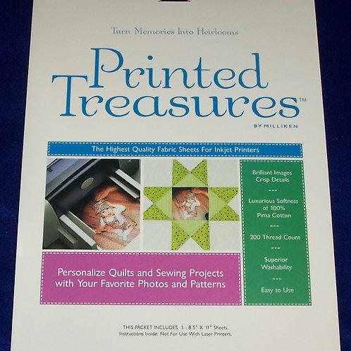 "Milliken Printed Treasures Fabric Sheets For Inkjet Printers 5 Count 8.5""X11"""