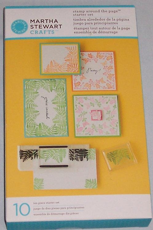 Stamp Around the Page Starter Set 10 Pcs Martha Stewart