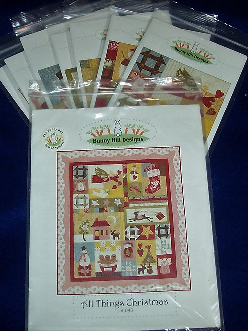 """All Things Christmas Bunny Hill 52""""X 60"""" Complete Patterns 1-7"""