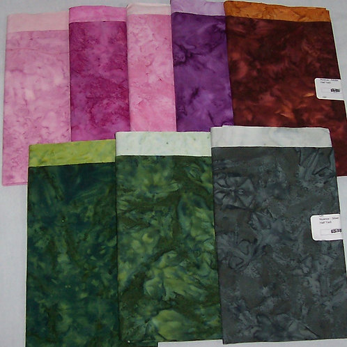 8 (1/2 Yard) Bundle Nuance Batiks Fabric