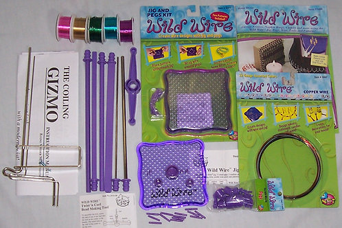Wild Wire Jig and Pegs Kit + Coiling Gizmo +Twist n CurlBead Making Tool and Mor