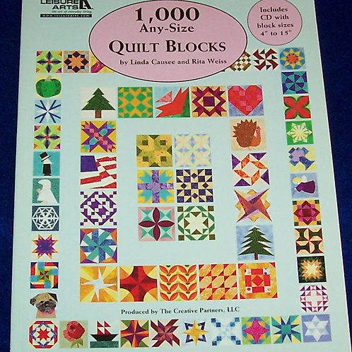 1,000 Any-Size Quilt Blocks with CD Linda Causee and Rita Weiss