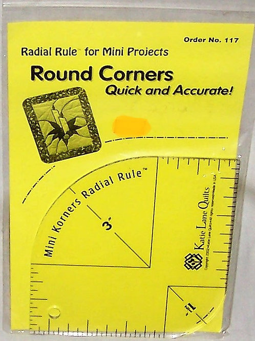 Katie Lane Mini Korners Radial Rule - Round Corners Quick and Accurate