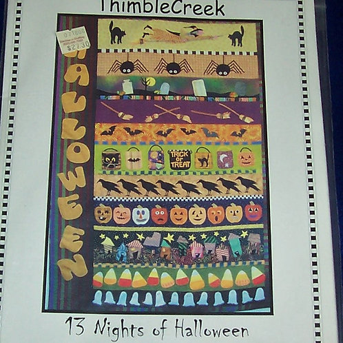 "13 Nights of Halloween Sandy Klop Joe Wood Pattern 53""X 81"""