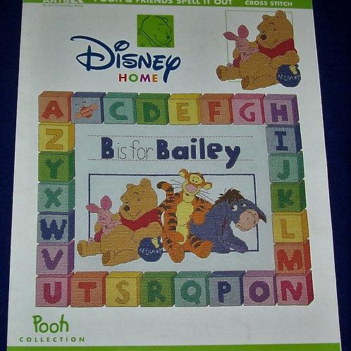 Cross Stitch Pattern Disney Pooh & Friends Spell It Out Stitch Charts
