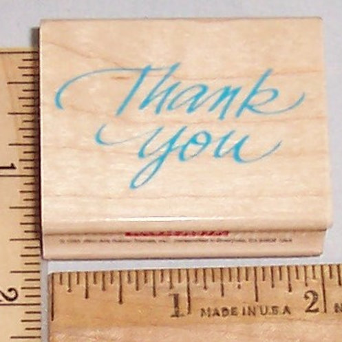 Wood Mounted Rubber Stamp Hero Arts Thank You