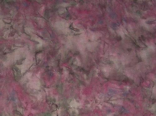 Rayon Batik Pink Green 2 Yards