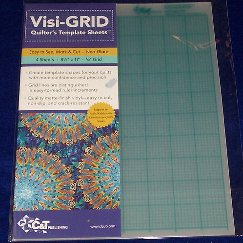 """Visi-Grid Quilter's Template Sheets 4-8.5""""X11"""" -1/8"""" Grid"""
