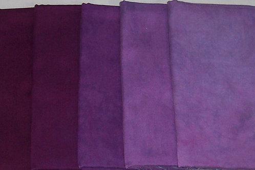 Radiance Five 1 Yard Pieces Purple Bundle