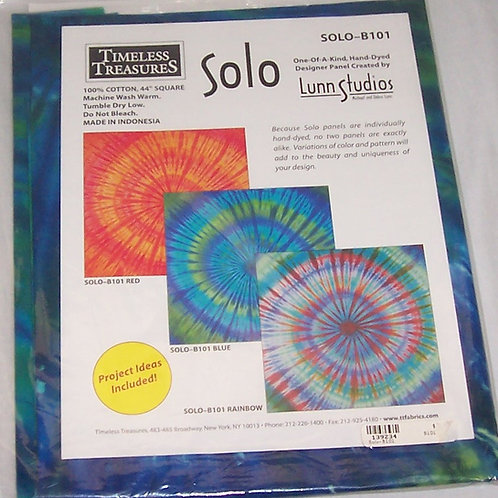 """Timeless Treasures Solo Blue 44"""" Square Hand Dyed Designer Fabric Panel"""