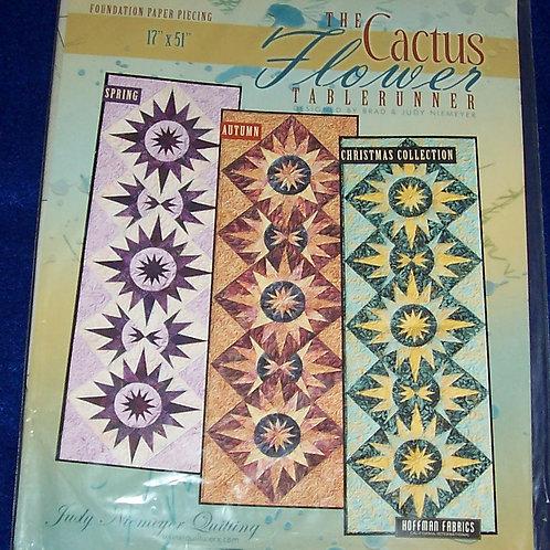 """The Cactus Flower Judy Niemeyer Pattern Tablerunner 17""""X51"""""""