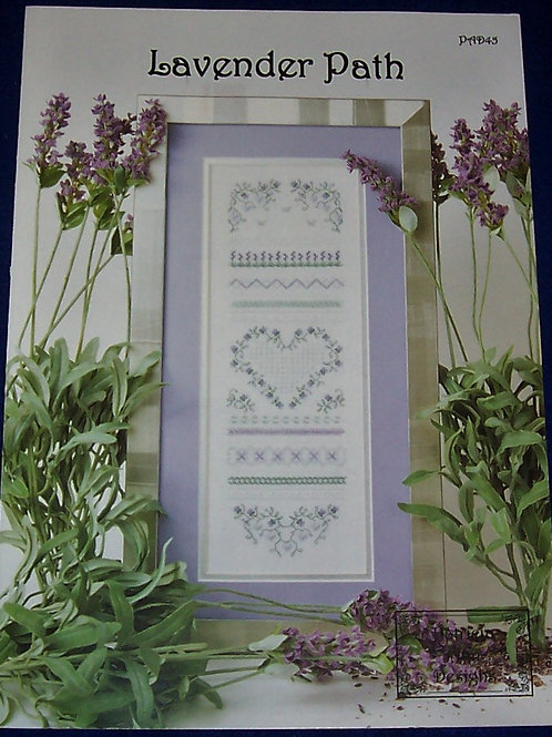 Cross Stitch Pattern Patricia Ann Designs Lavender Path