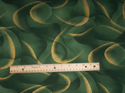 Kona Bay Green with Metallic Gold EMPR-04 1 Yard Fabric -See Specials Top of Pg