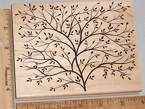 Wood Mounted Rubber Stamp Hero Arts Design Block Tree S5037