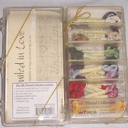 Kreinik United in Love ~ Silk Thread Collection Cross Stitch Kit