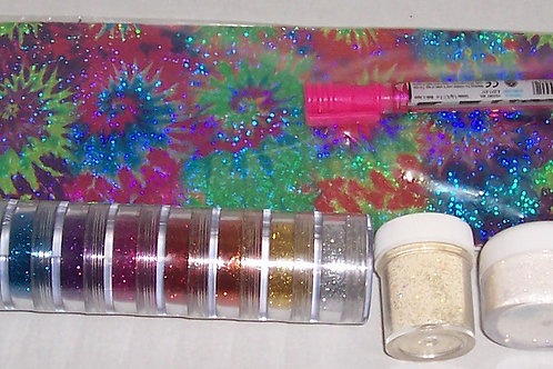 Bo-Nash TonerTex Foils, Pen and Polywash Glitter Tower 9 Different Colors + 2