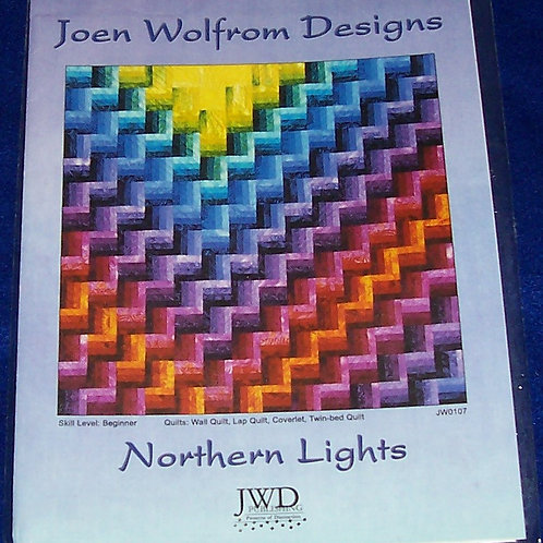 Northern Lights Joen Wolfrom Designs Pattern 4 Different Size Quilts