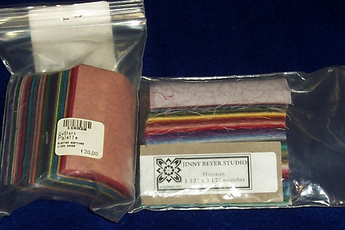 "Jinny Beyer Horizon 1-1/2"" X 3-1/2"" Swatches + Electra 2"" X 3"" Swatches"