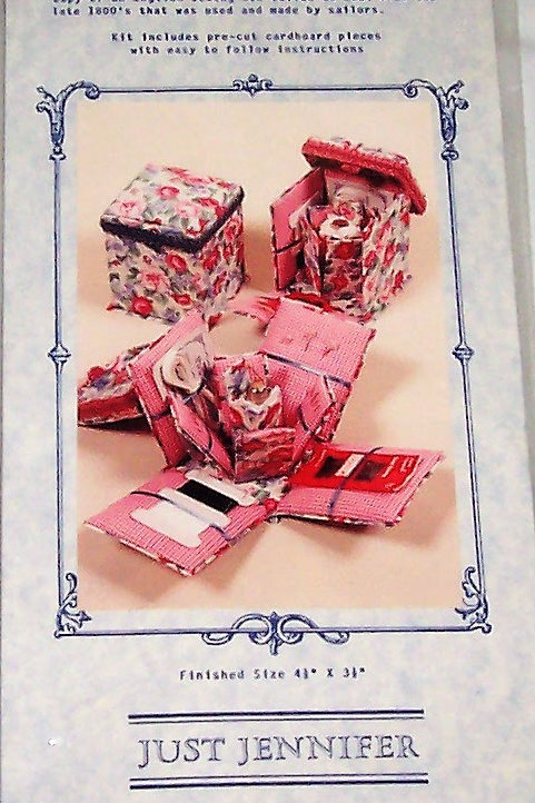 "Just Jennifer Victorian Sewing Box Kit Finished Size 4-1/2""X3-1/2"""