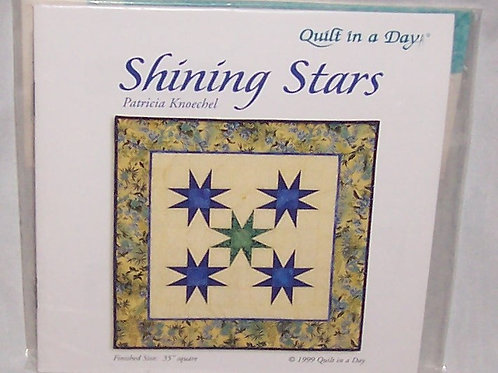 Quilt in a Day The Triangle in a Square Rulers with Shining Star pattern