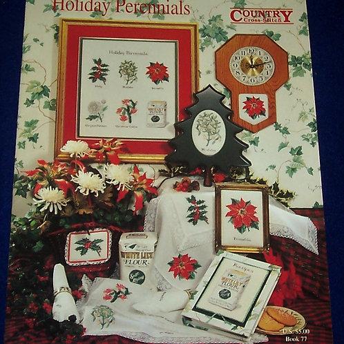 Cross Stitch Pattern Country Cross Stitch Holiday Perennials Stitch Charts