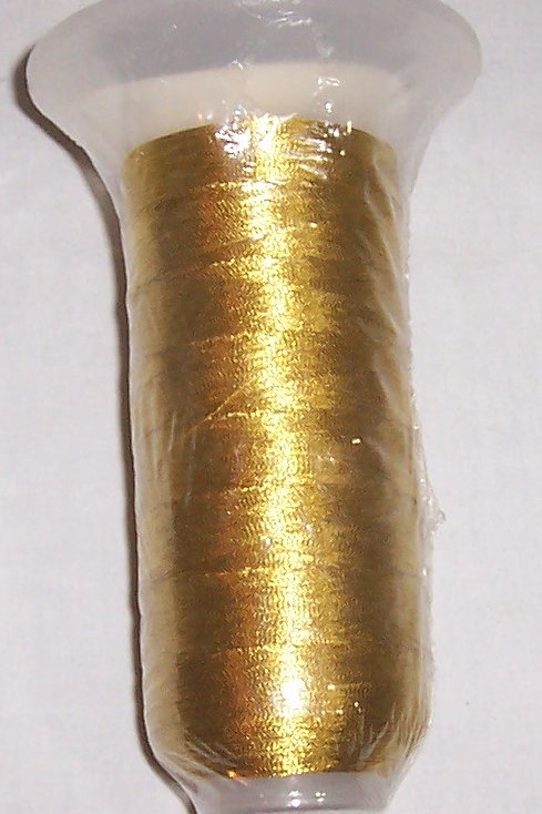 Coats Sylko Metallic Embroidery Thread 2500 Yds Yellow Gold