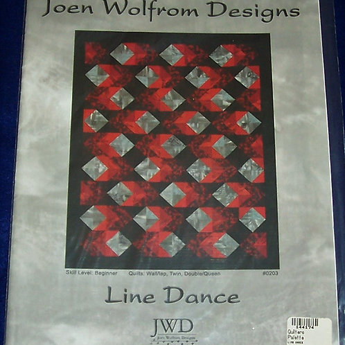 Line Dance Joen Wolfrom Designs Pattern 3 Different Size Quilts