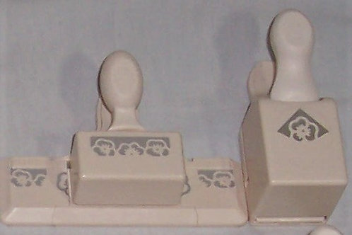 Success Martha Stewart Crafts Paper Punch Edge + Corner Set Pansy Flowers