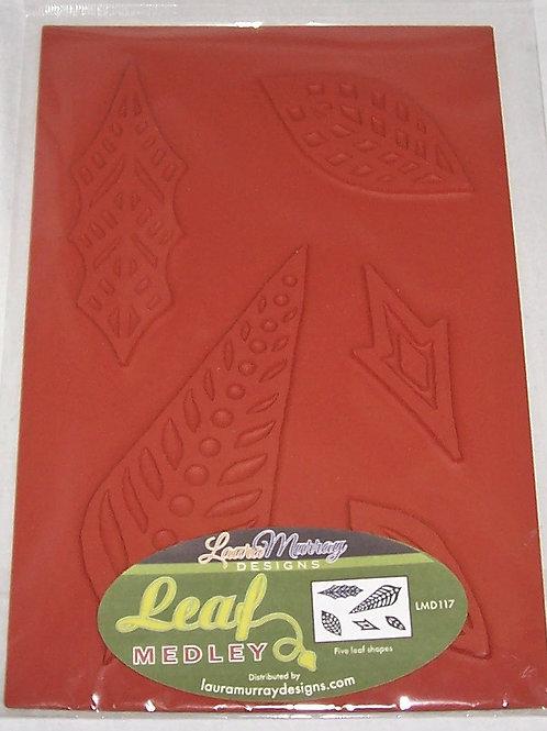 Laura Murray Designs Leaf Medley Five Leaf Shapes Unmounted Rubber Stamps