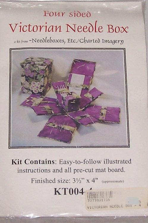 """Needlebox Kits Four Sided Victorian Needle Box Finished Size 3-1/2""""X4"""""""