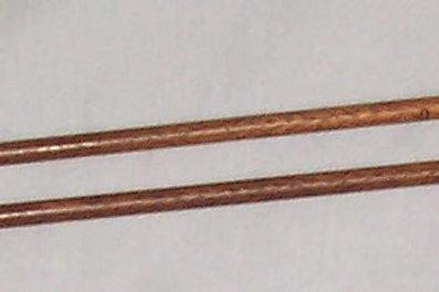 "Vintage Brittany Wood Knitting Needles Walnut Size 8 (5.0mm) 12"""
