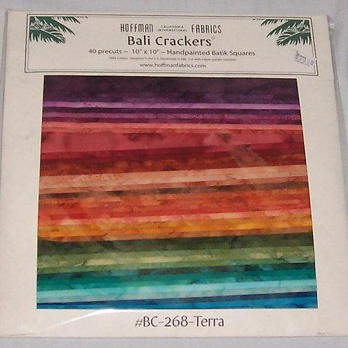 """Hoffman Batik Bali Crackers 268-Terra 40 Pre-Cut Squares 10""""X10"""""""