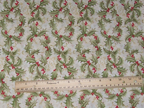 SSI Go-Lightly by Robyn Randolph Christmas Holly Fabric - See Specials Top Page