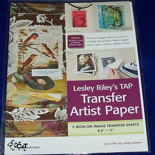 """Lesley Riley's TAP Transfer Artist Paper 5 Iron-On Transfer Sheets 8.5""""X11"""""""