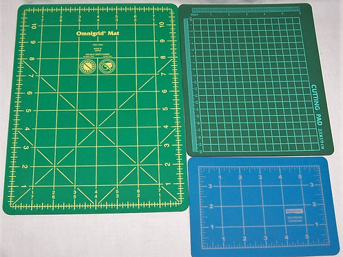 "Lot of 3 Small Cutting Mats/Pad Omnigrid 11""X8"" Staedtler 4""X6"" (23X19 CM)"